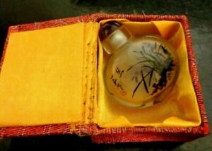 Chinese Intricate ViNTAGE Hand Painted Rock Crystal Snuff Bottle Beautiful 6 Cm