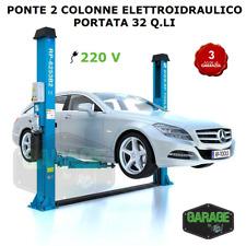 PONTE SOLLEVATORE 2 COLONNE ELETTROIDRAULICO - 32 Q.LI
