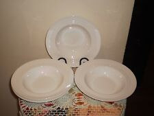 "4-VUE ""ST. GERMAIN"" BOUTIQUE COLLECTION WHITE FINE BONE CHINA RIMMED SOUP BOWLS"