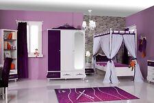 Kinderzimmer Anastasia lila 3-teilig Kinderzimmerset Traumzimmer Mädchenzimmer