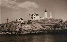 Nubble Lighthouse Cape Neddick York Maine New England Island ME Light - Postcard
