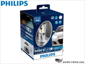 PHILIPS X-treme Ultinon 6000K WHITE H4 9003 HB2 LED HEADLIGHTS Hi/Low 12953BWX2