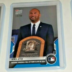2021 Topps NOW #776 Derek Jeter Hall Of Fame Induction BLUE PARALLEL 18/25