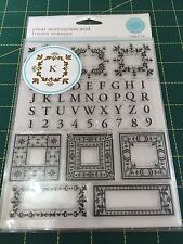 Martha Stewart Crafts Clear Monogram And Frame Stamps