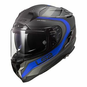 LS2 FF327 CHALLENGER MOTORCYCLE HELMET FUSION MAT TIT/BLU LARGE RRP $449.99