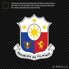 Filipino Coat of Arms Sticker Decal Self Adhesive Vinyl Philippines flag PHL PH