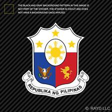 Filipino Coat of Arms Sticker Decal Self Adhesive Vinyl Philippines flag PHL PH