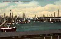 Cuxhaven AK 1912 Fischereihafen Hafen Fischerboote Boote Fischer Segelschiffe