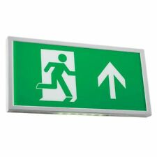 EMERGENCY EXIT BOX SIGN BULK HEAD LIGHT SLIM 6W LED MAINTAINED NON MAINTAINED