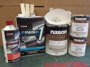 Vermilion Ford F1 basecoat Finish1 720 clearcoat auto body restoration paint kit