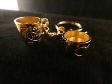 24 Karat vergoldet Schlüssel Anhänger Kaffeetassen Partner Paar Becher Tasse