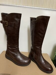 JD Williams women brown leather boots size uk 7 eu 40 usa 9