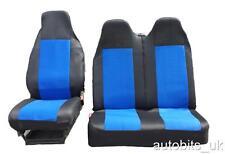 FIAT SCUDO 2+1 BLUE BLACK SINGLE +DOUBLE COMFORT FABRIC SEAT COVERS TAILORED