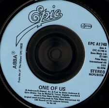 """ABBA one of us 7"""" WS EX/ uk epic EPC A 1740 blue injection moulded label"""