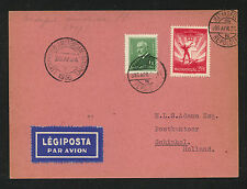 Hungary  airmail  card  to  Holland  1924          MS0815