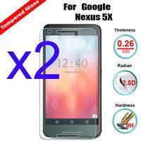 2x 9H Premium Tempered Glass Screen Film Protector for LG Google Nexus 6P 6 5X
