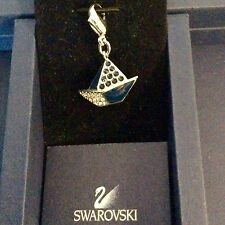 GENUINE SWAROVSKI® PAVE CHARM PENDANT W/ SIGNED LOBSTER CLASP~ SAILBOAT