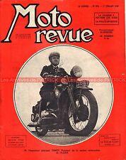 MOTO REVUE  873 GNOME RHONE 750 X40 1939 VANOT Police Parisienne ; St Cloud 1946