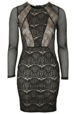 Topshop cut-out lace bodycon dress