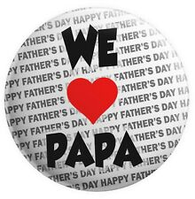 Pin Button Badge Ø38mm ♥ I Love You j/'aime Ti amo te amo Coeur Dad Papa Pere