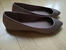 Glitzernde Ballerinas Schuhe