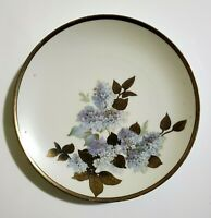 Antique Prussia Plate Hand Painted Lilac Porcelain Schlesische 1910