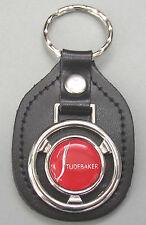 Red STUDEBAKER Steering Wheel Black Leather Keyring 1904 1905 1906 1907 1908