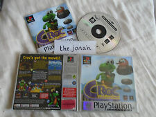 Croc Legend of the Gobbos PS1 (COMPLETE) platinum Sony PlayStation rare platform