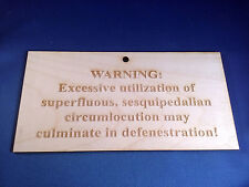 """Tired of Doubletalk? Handmade """"Eschew Obfuscation"""" Type Sign"""