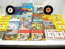 VINTAGE CHILDREN`S RECORD BOOKS X 26 DISNEY PETER PAN JACK BOX MUPPETS SNAP