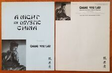 A Night In Mystic China Chang Kuo Lao Promotional Flyer And Letterhead