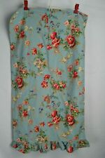 Ralph Lauren Vintage Cottage YVETTE Ruffled Blue Floral Standard Pillowcase