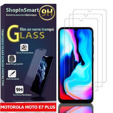 """3x protección de vidrio para motorola moto e7 plus 6.5"""" real vidrio lámina protectora de pantalla"""