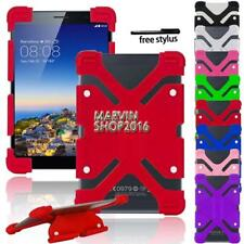 """Universal Shockproof Silicone Stand Cover Case For Various 7"""" 8"""" Tablet + Stylus"""