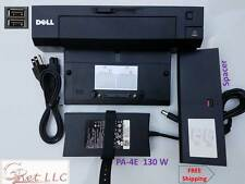 Dell Genuine Docking Station E-Port Plus PR02X with PA-4E 130W Adapter & Spacer.