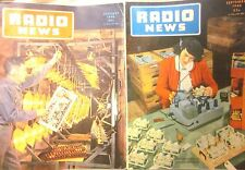 Lot of 2: Radio News Magazine January & September 1946 (Fair Condition)