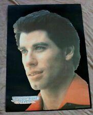 John Travolta 1977 Tony Manero Saturday Night Fever Black Velvet RARE Poster FVF