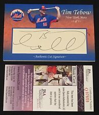 TIM TEBOW SIGNED AUTOGRAPHED CUSTOM MADE METS CUT SIGNATURE 4X6 CARD 1 Of 1 JSA