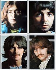Set of all 4 Beatles photos from The White Album replica fridge magnet - new!