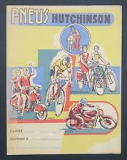 Protège cahier PNEU HUTCHINSON scooter Vespa moto vélo MICH copybook