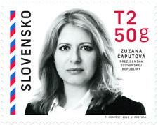 Postage stamp - President of Slovak Republic Zuzana Caputova
