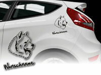 Aufkleber Samojeden Samojede Siberian White Dreams H372 Wunschname Auto