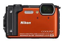 """Nikon W300 Waterproof Underwater 4K Digital Camera with TFT LCD, 3"""", (Orange)"""