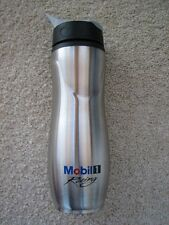 Mobil 1 Racing Stainless Steel Water Sport Bottle NASCAR Motor Oil Race Track