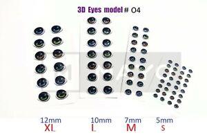 EYES STICKERS Model # O4 3D OJOS AUTOADHESIVOS,PORCELAIN,CLAY,FOAM flexyble clay