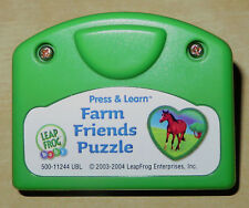 Leap Frog Little Touch Cartridge Only: Press & Learn Farm Friends Puzzle VGUC