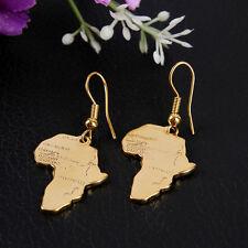 WomensJewelry Set African Map Drop/Dangle Earrings Hook  For Link Necklace