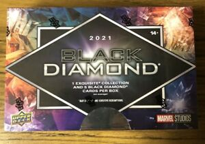 2021 Upper DECK MARVEL BLACK DIAMOND PREMIUM TRADING CARD SEALED HOBBY BOX