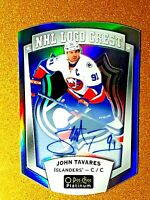 JOHN TAVARES 2016-17 O-Pee-Chee Platinum NHL Logo Crest Autograph NHLLD-14 AUTO