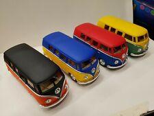 Bundle of 4 x kinsmart matte 1962 vw bus TOY cars models diecast 1/32 scale